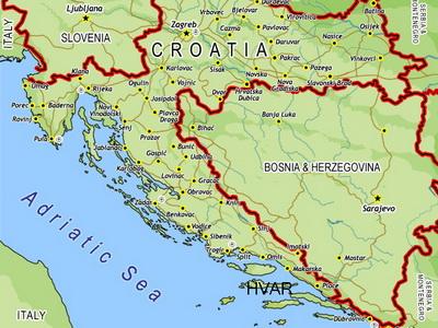 Karta Hrvatske Bosne I Srbije Karta